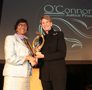 Navi Pillay Accepting the O'Connor Prize